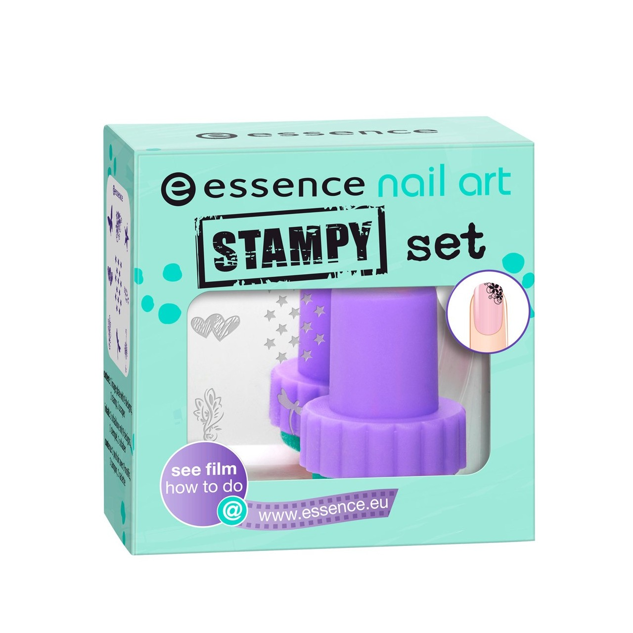 Make Up Nails Strass Stickers Essence Nail Art Stampy Set
